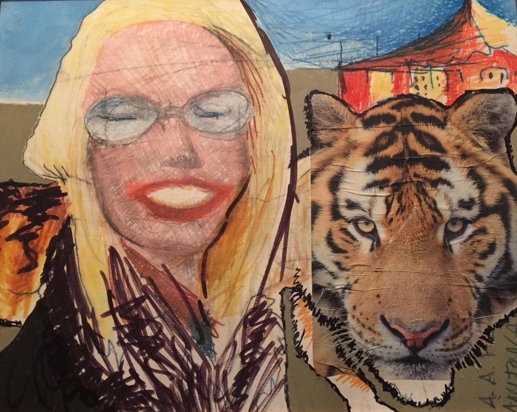 Anitona e la tigre (i clown) coll. privata