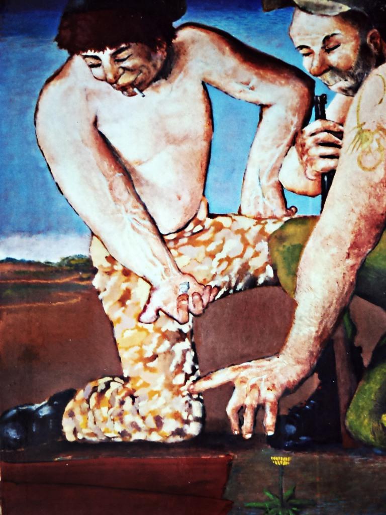 Due sgerri si giocano a dadi la tunica di cristo
